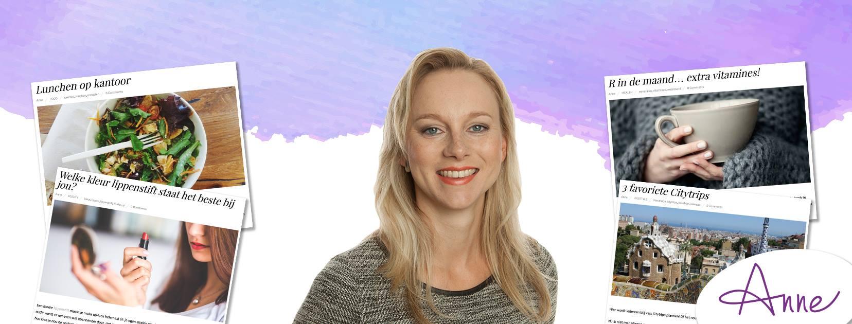 Blog anne Healty & beauty coach